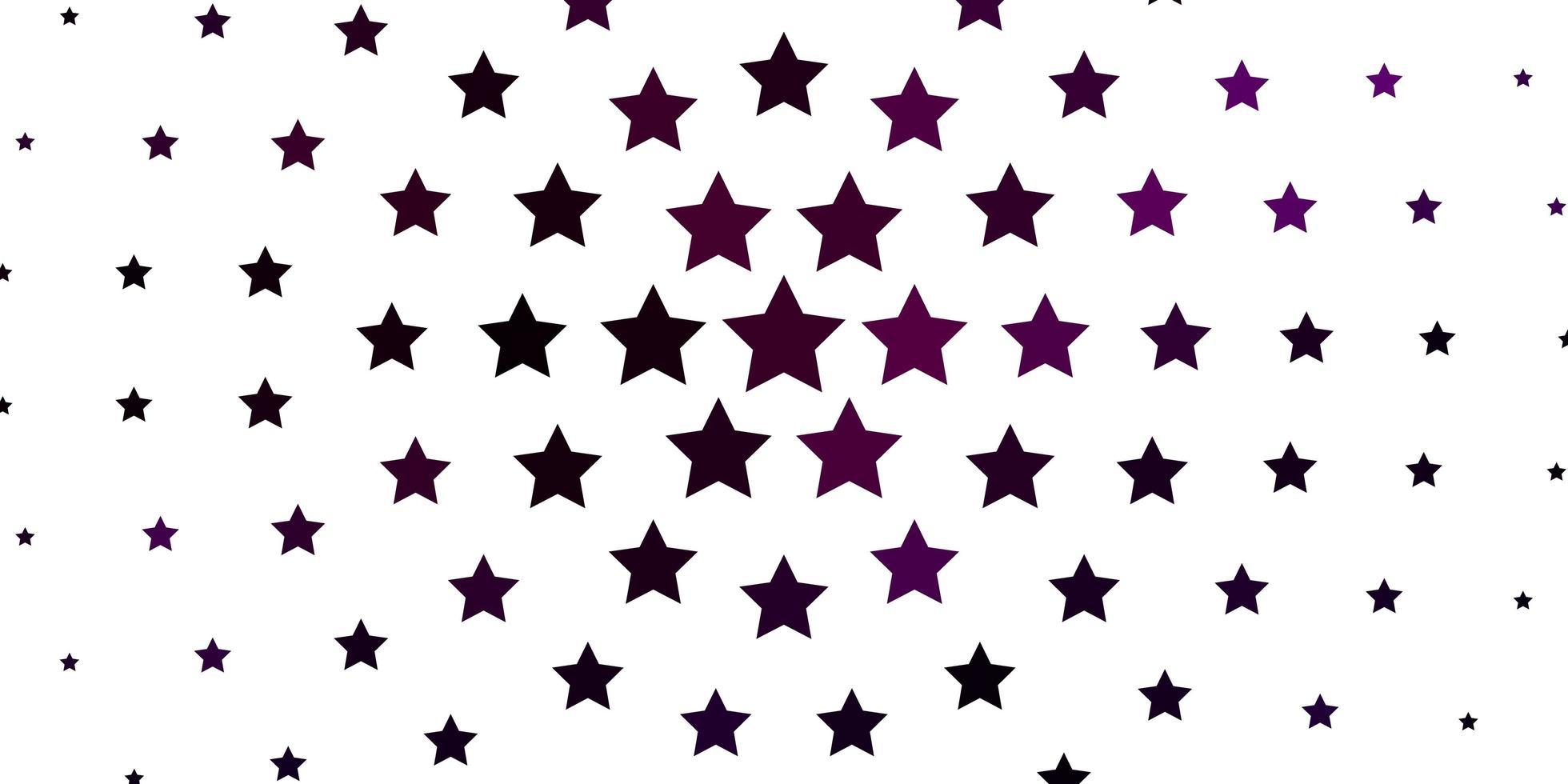 dunkles Muster mit abstrakten Sternen. vektor