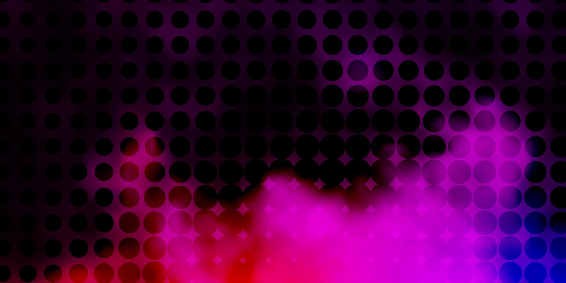 hellrosa Layout mit Kreisformen. vektor