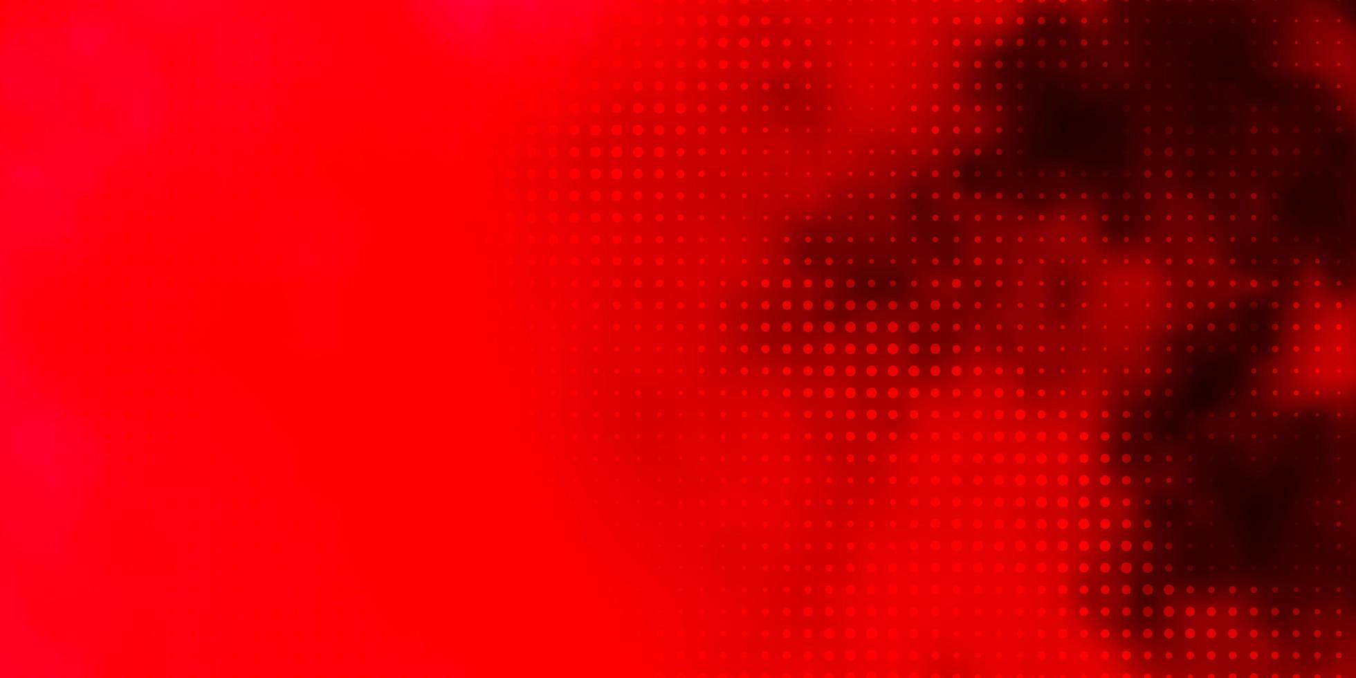 rotes Layout mit Kreisformen. vektor