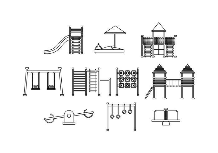 Kostenlose Spielplatz Linie Icon Vektor