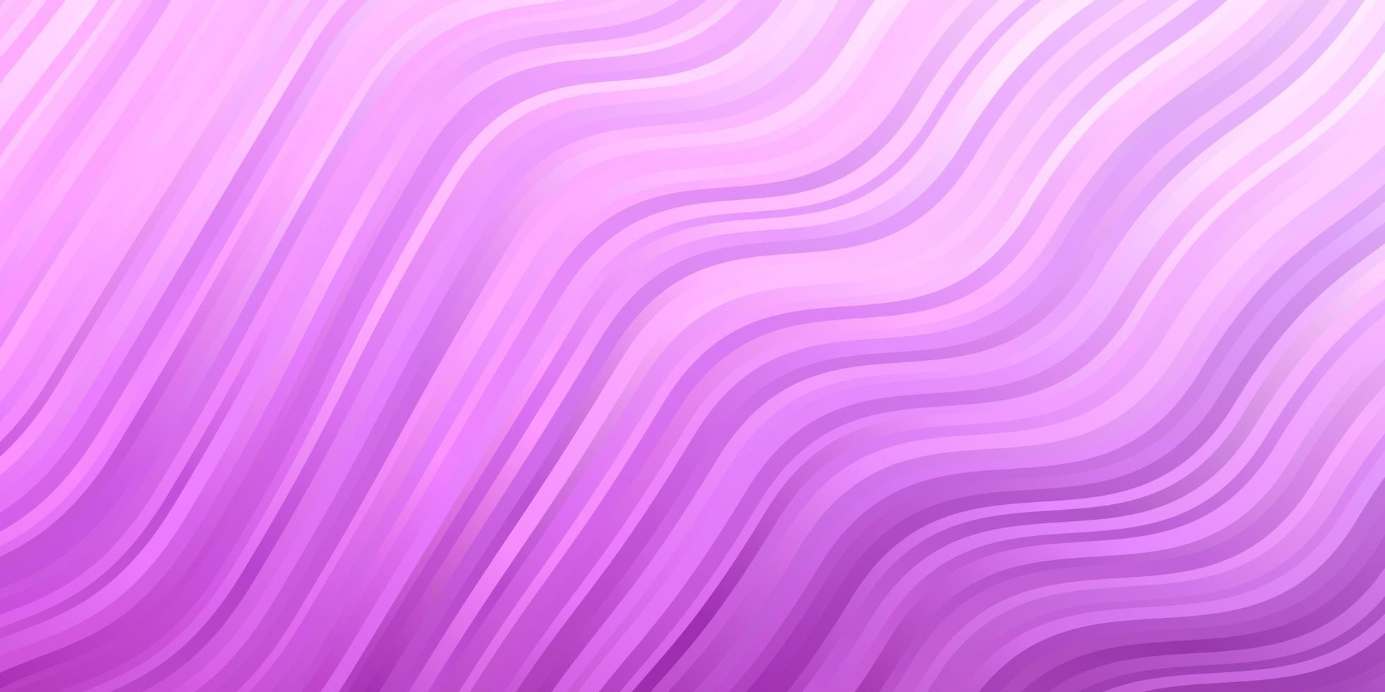 hellrosa Hintergrund mit gebogenen Linien. vektor