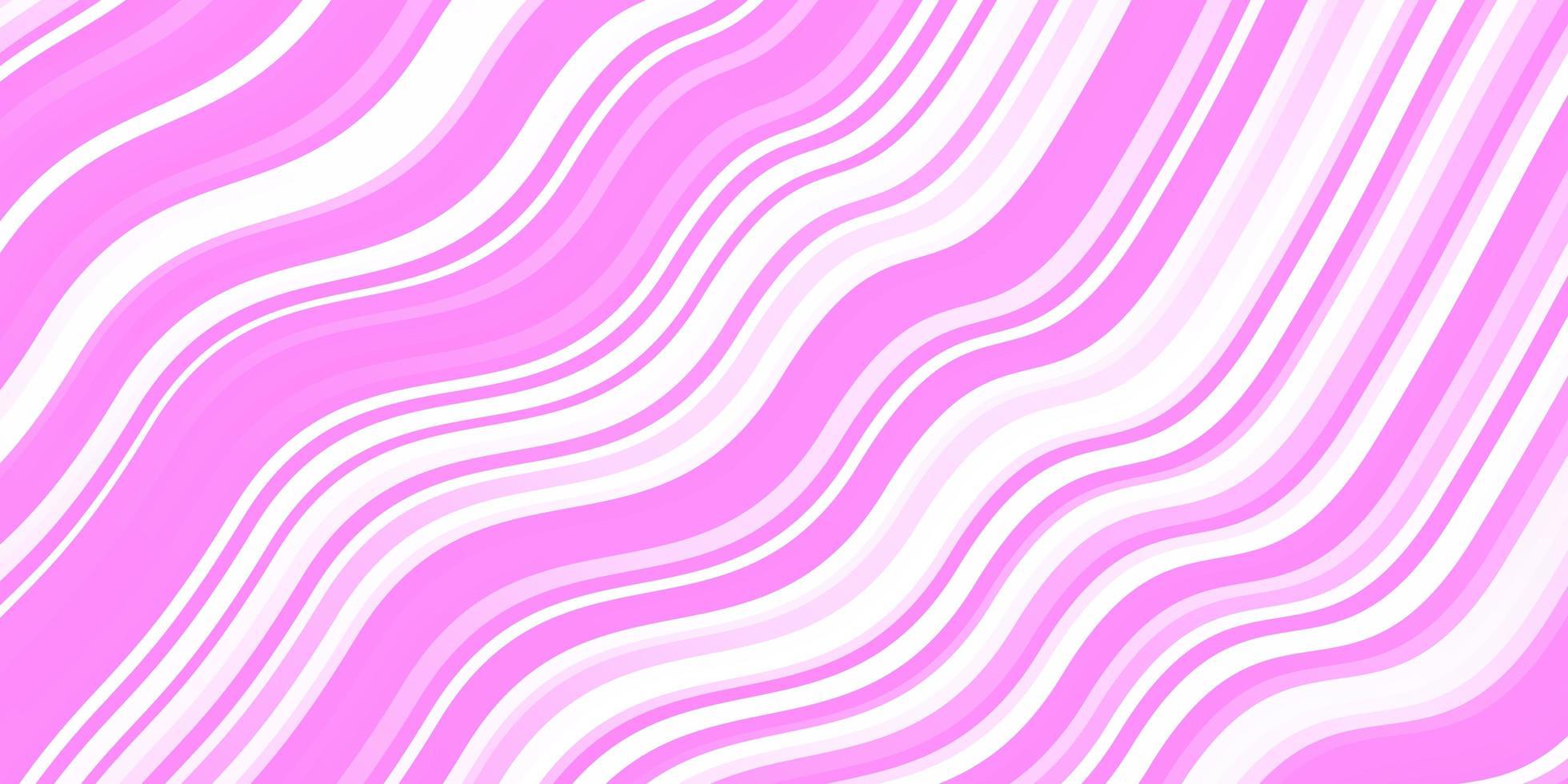 rosa Schablone mit gekrümmten Linien. vektor