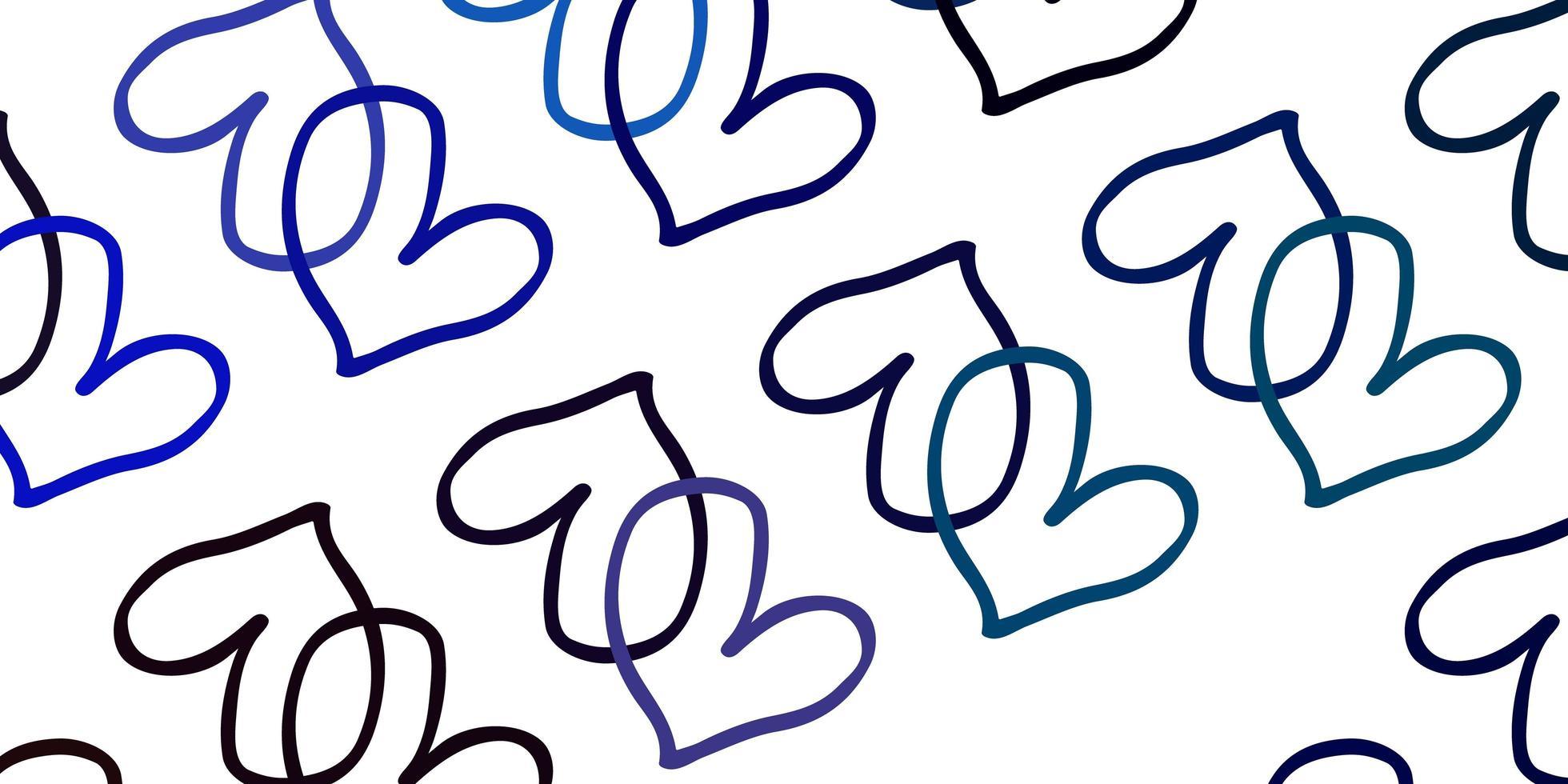 blauer Hintergrund mit süßen Herzen. vektor