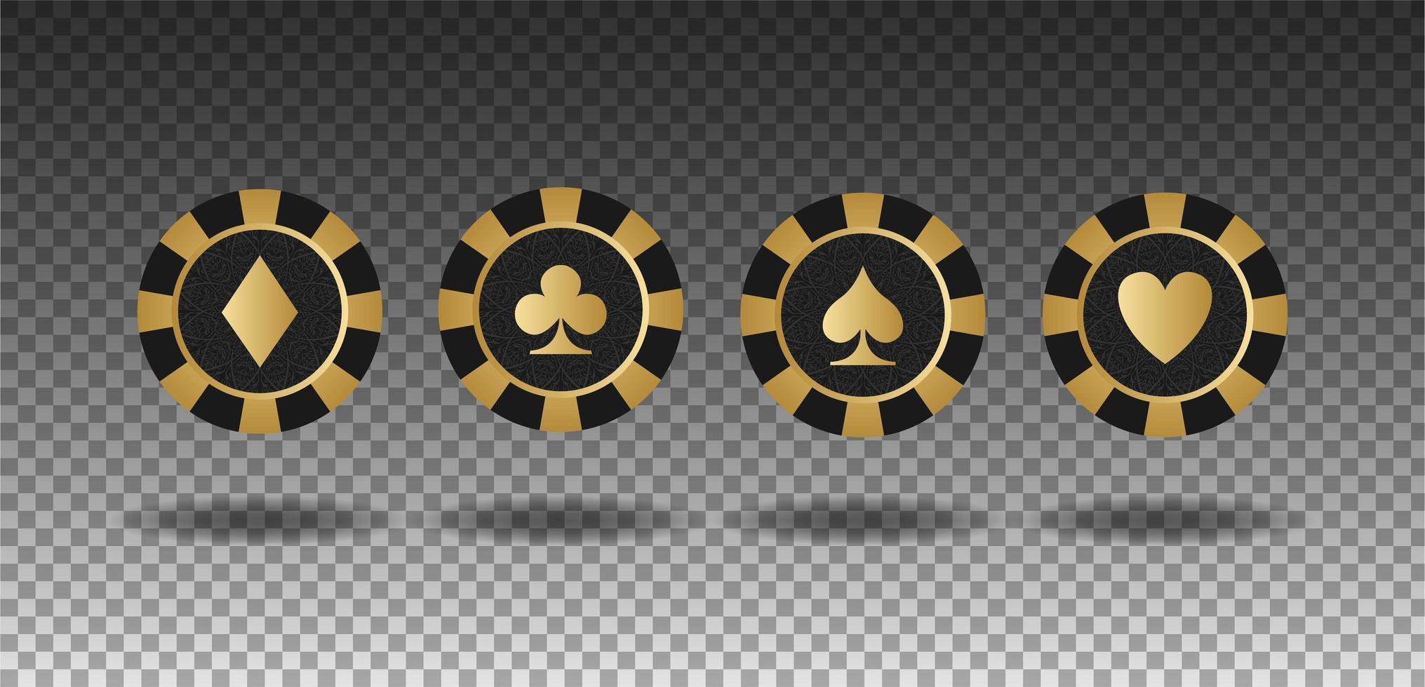 uppsättning kasinobricka vektor