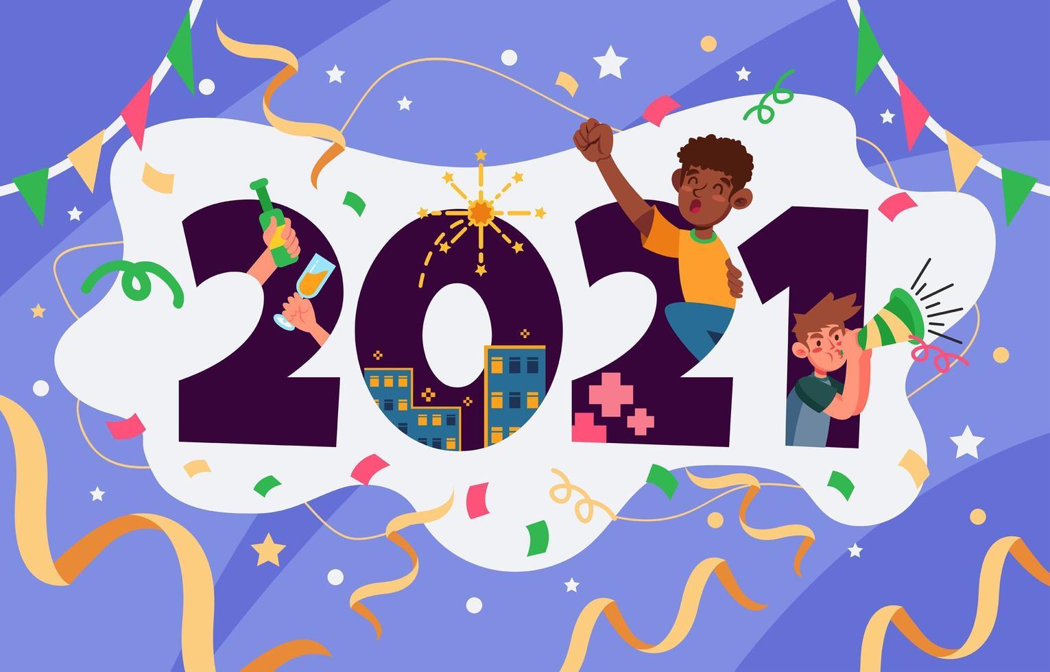 2021 nyårsfest vektor