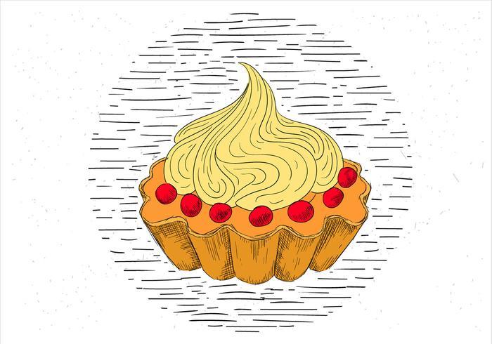 Gratis handdragen Vector Cake Illustration