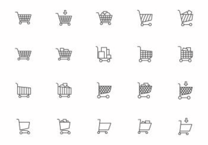 Gratis Supermarket Cart Vectors