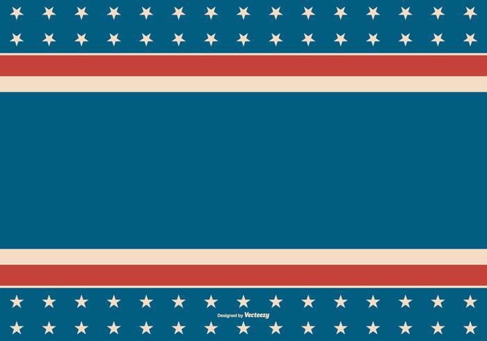 Amerikansk Retro stil patriotisk bakgrund vektor
