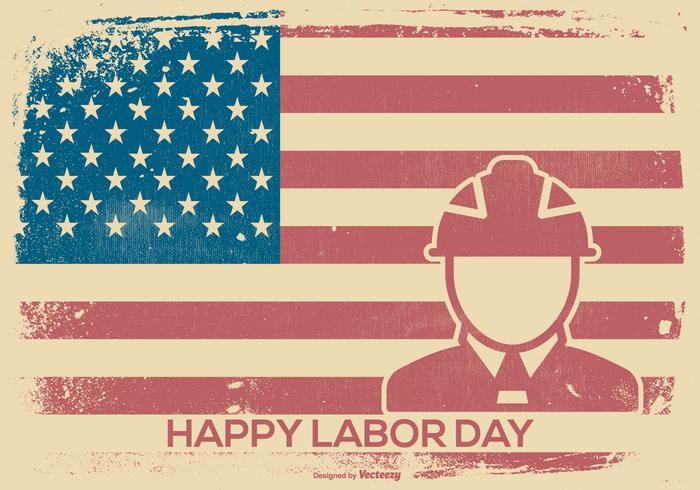 Labor Day Retro Style Bakgrund vektor