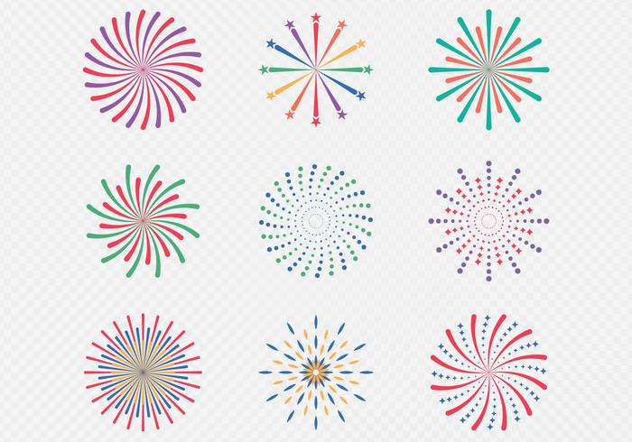 fyrverkeri display firande vektor