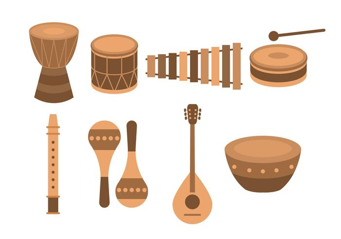 Gratis afrikansk etnisk musikinstrument vektor