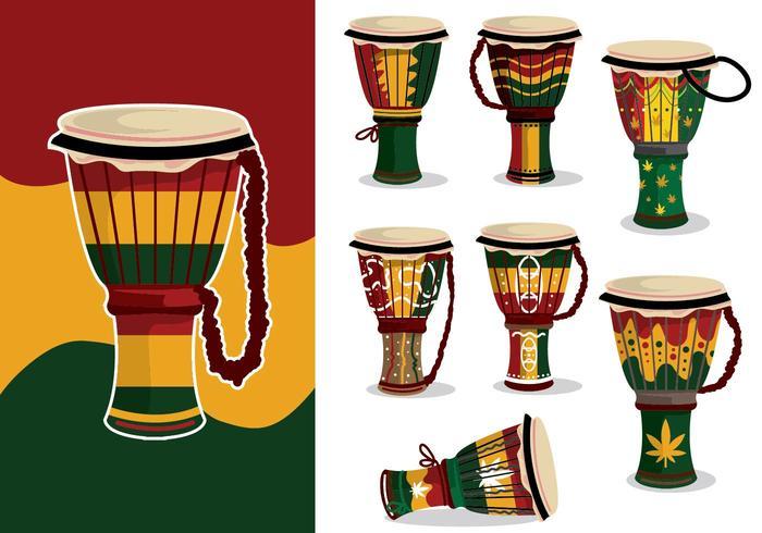 djembe reggae variation vektor