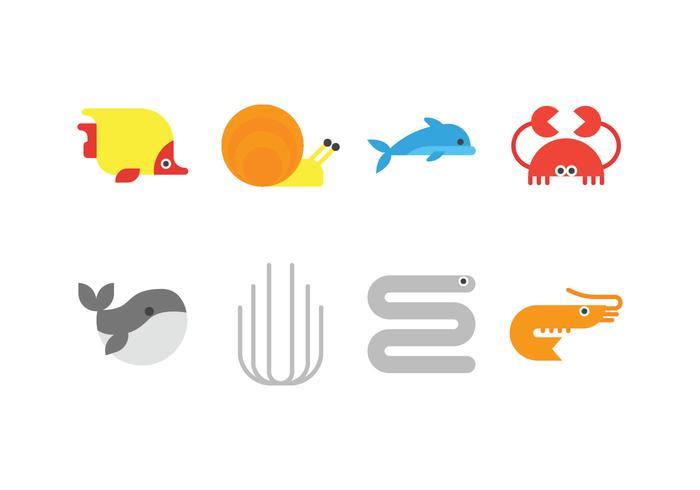 Sea Life Vector ikoner