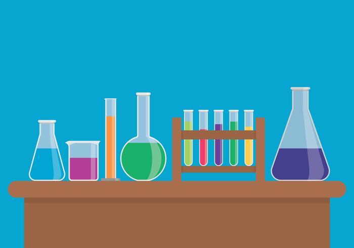 Chemische Flasche Set vektor