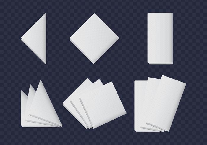 Vita servetter samlingar vektor