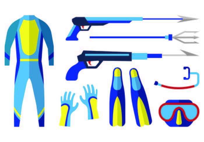 Icon von Spearfishing vektor