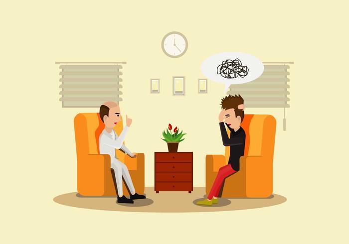 Psychologe Illustration Vektor
