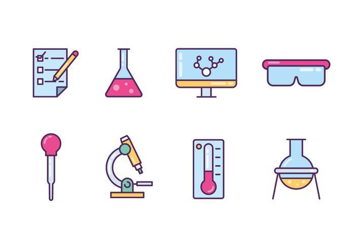 Laborgeräte Icons vektor