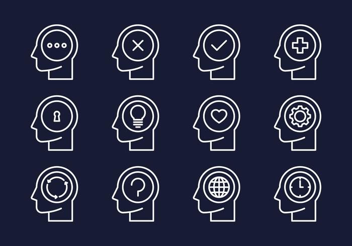 Gehirn-Aktivitäts-Icon vektor
