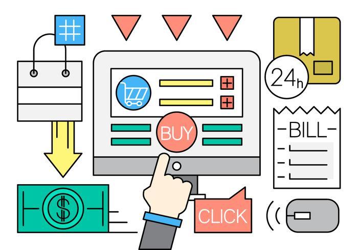 Gratis Online Shopping Ikoner vektor