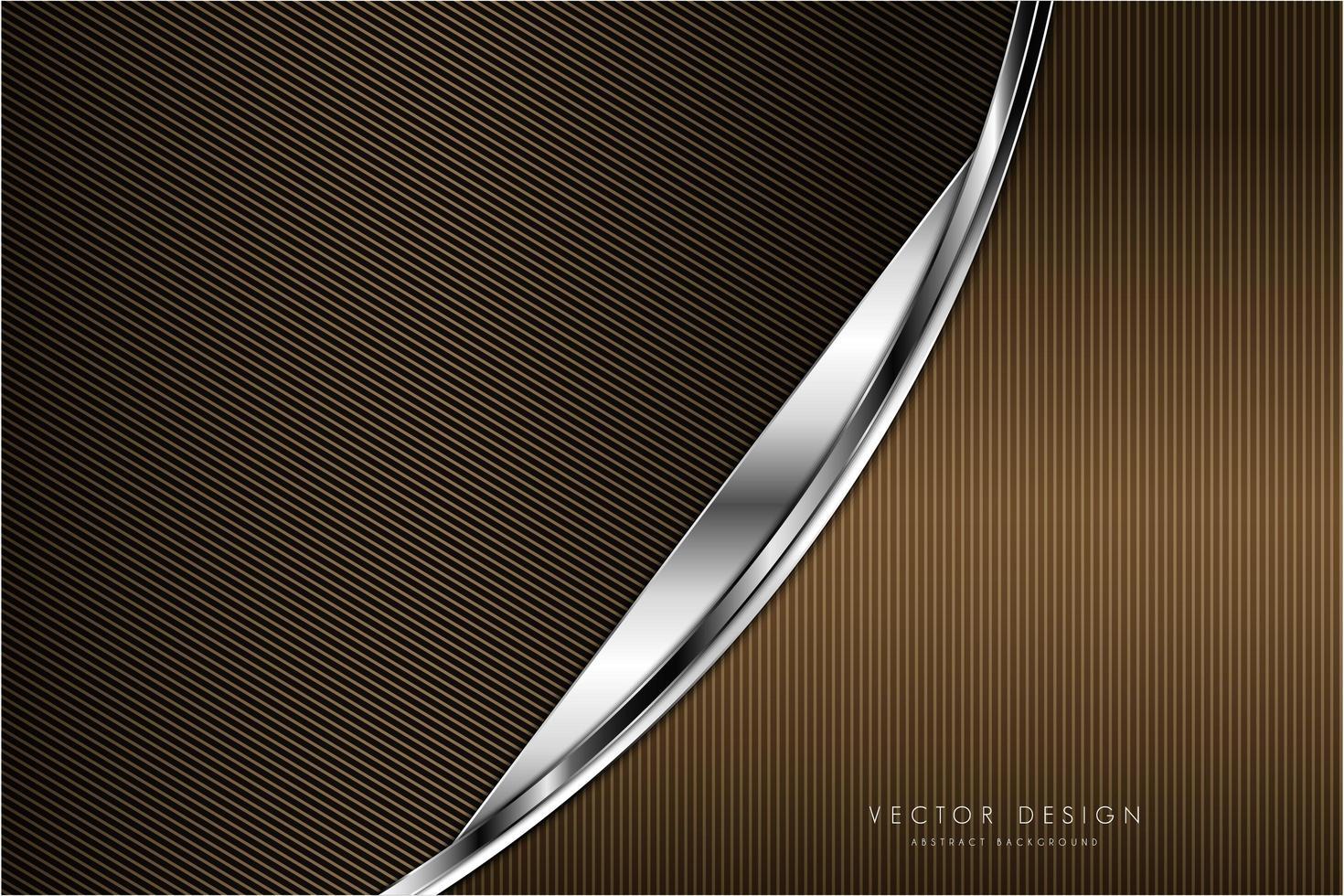 moderner metallischer Hintergrund aus Gold und Silber vektor