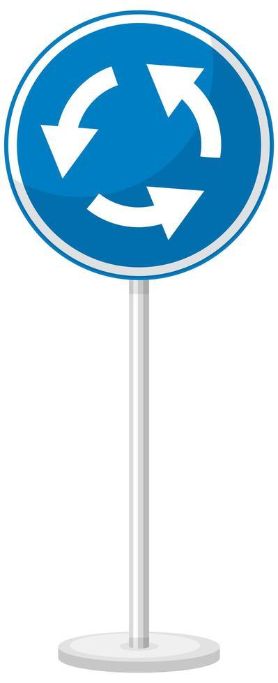 blaues Verkehrszeichen auf weißem Hintergrund vektor
