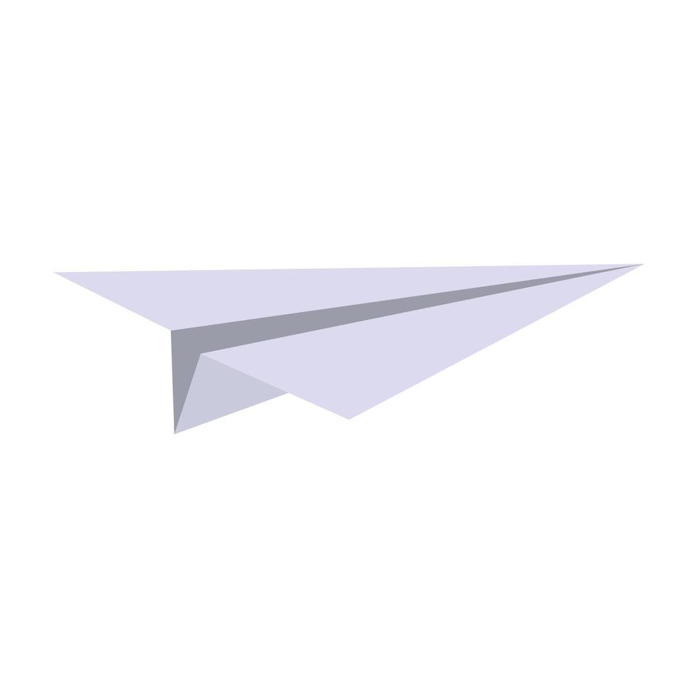 pappersplan origami symbol isolerad vektor