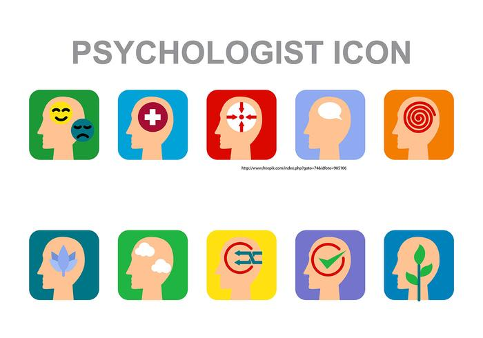 psykolog ikon vektor