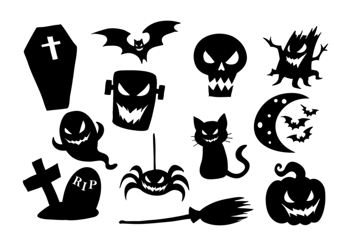 Halloween ikoner vektor