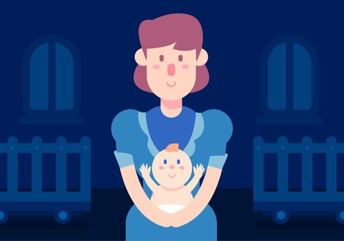 Nanny und Baby-Vektor vektor