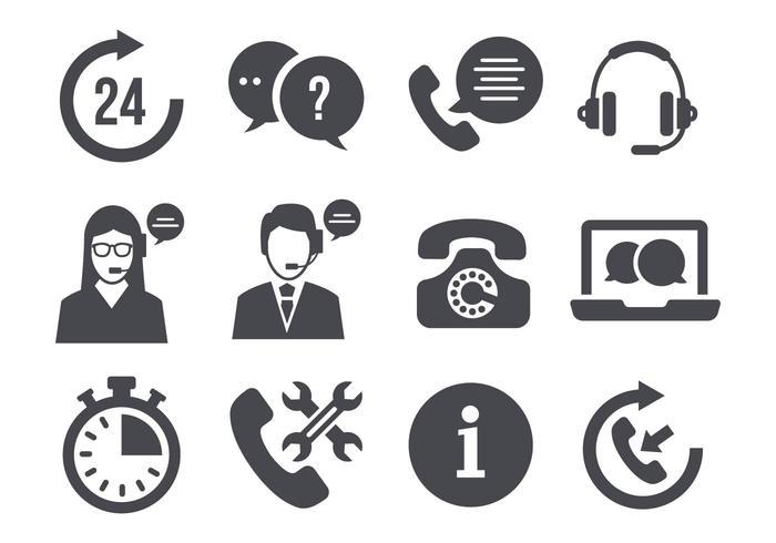 Kostenloser Support Call Center Vektor