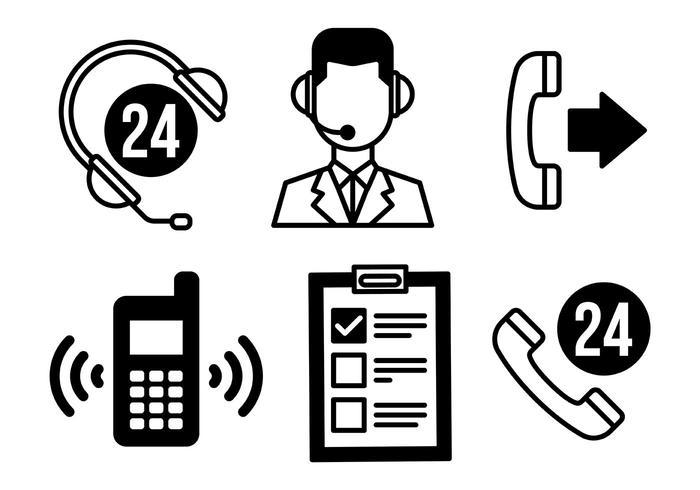 Call Center Vector Ikoner