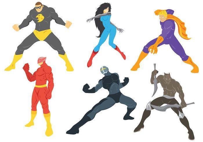 Superhelden Vektor Icons