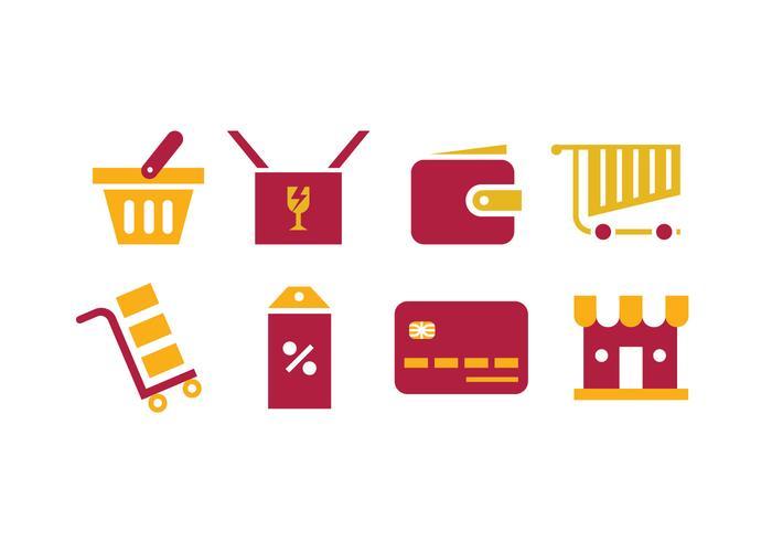 Shopping-vektor-Icons vektor