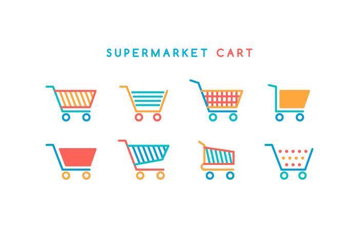 Kostenlose Supermarkt Cart Save Vektor