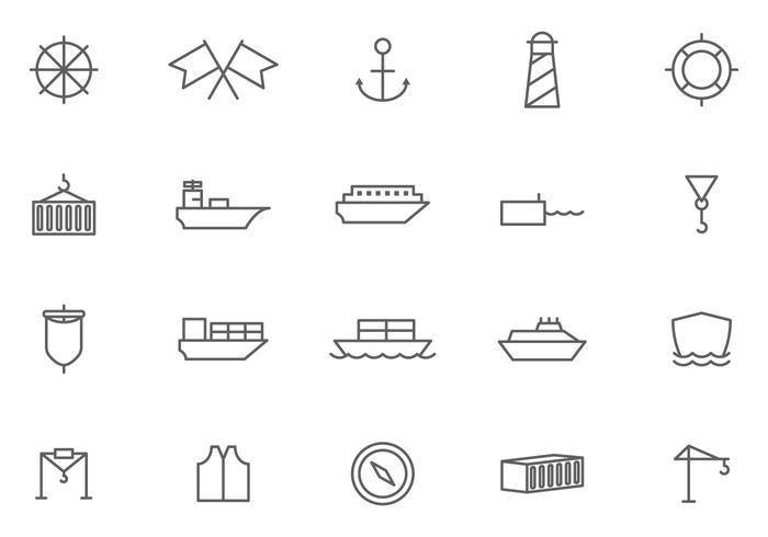 Freie Hafen-Vektoren vektor