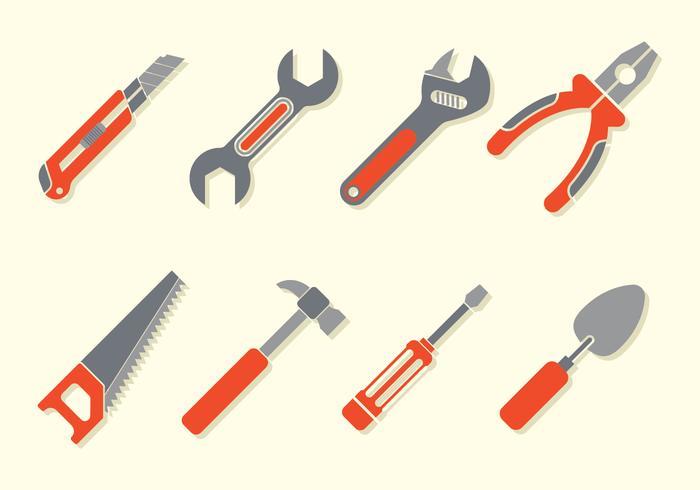 Bricolage verktyg ikoner vektor