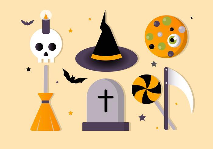 Kostenlose Halloween-Vektor-Elemente-Sammlung vektor