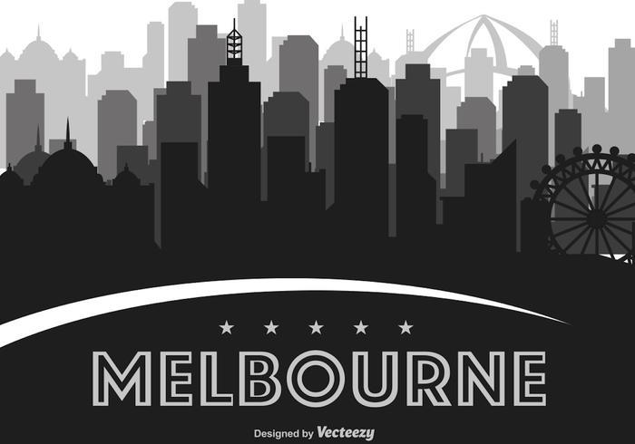 melbourne vektor skyline illustration