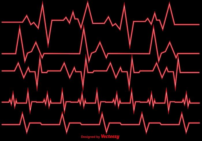 Vektor-Illustration Herz Rhythmus Ekg Vektor