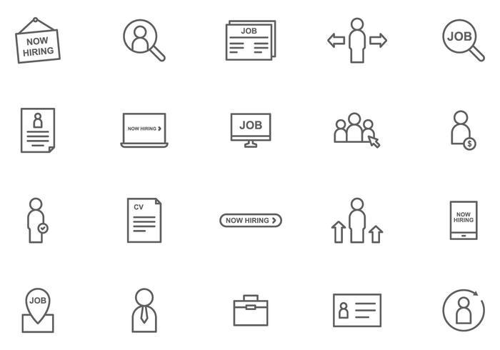 Kostenlose Job-Recruitment-Vektoren vektor