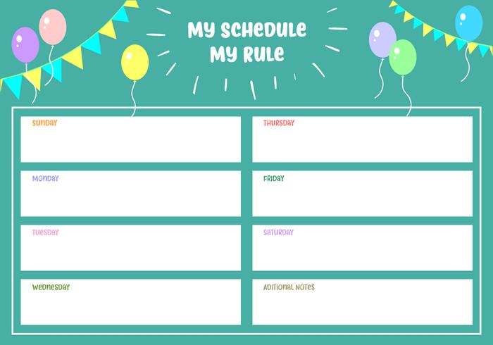 Min schema Min regel Gratis vektor