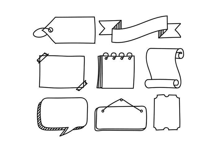Bullet Journal Dekorationen freien Vektor
