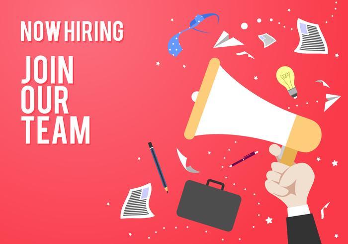 Schließen Sie sich unserem Team Recruitment Poster Vorlage Kostenlose Vector