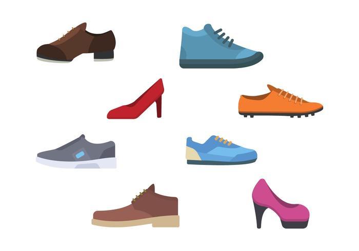 Flache Schuhe Vektoren