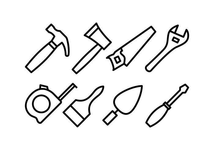 Bricolage-Werkzeugsymbole vektor