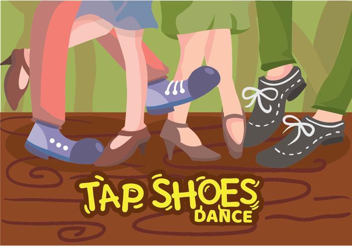 tippen Sie Schuhe tanzen Abbildung vektor