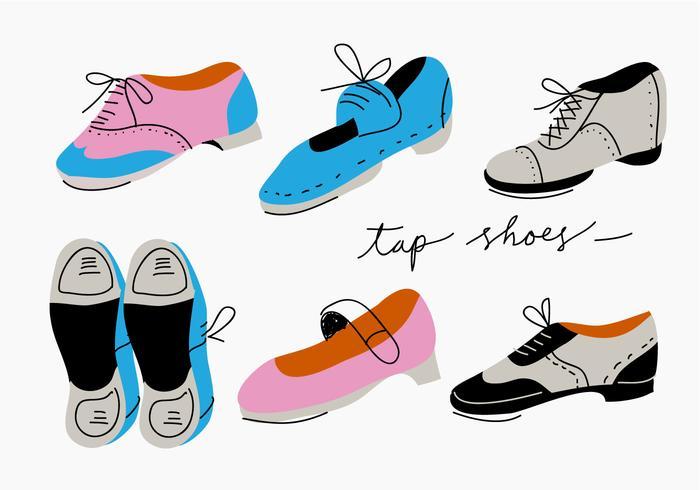 Tap Schuhe Sammlung Vektor-Illustration vektor