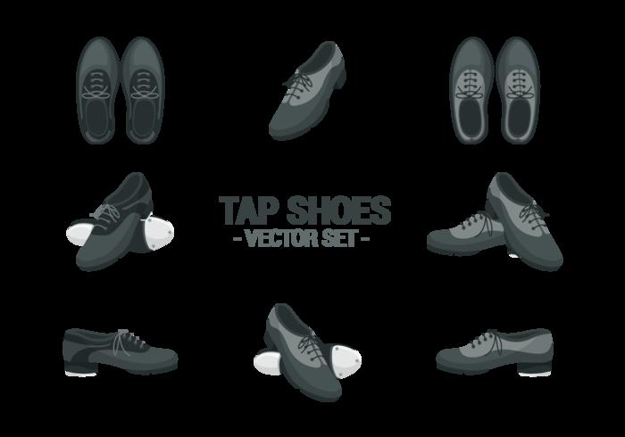 Tap Schuhe Icons Vektor