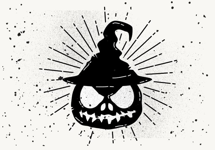 freier beängstigender halloweenkürbisvektor  download